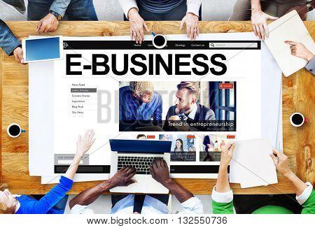 E-Business Commerce Data Digital E-Mail Internet Concept