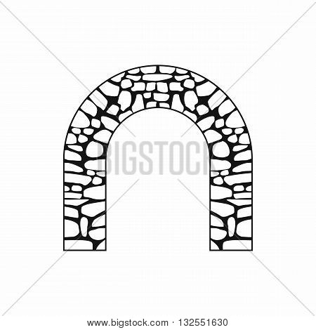 Arch icon in simple style isolated on white background
