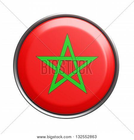 Silhouette Of Morocco Button