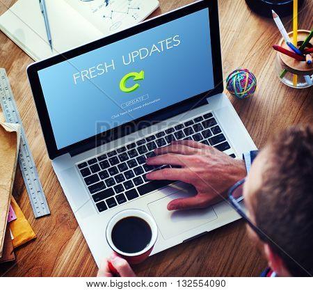 Lastest Version Fresh Updates Application Updates Concept