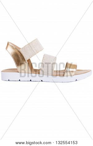 Woman sandals isolated on the white background