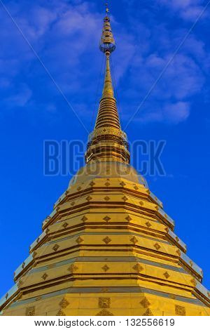 Golden Stupa Of Phra That Doi Suthep Temple, Chiang Mai, Thailand