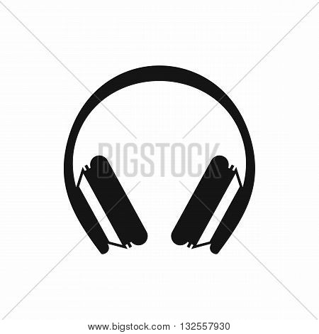 Protective headphones icon in simple style isolated on white background