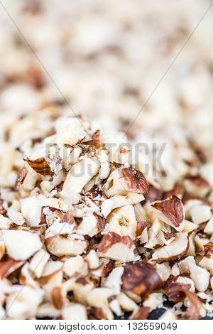 Minced Hazelnuts (background Image)