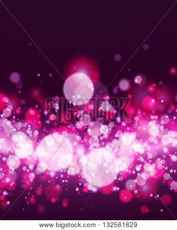 Abstract magenta and white bokeh background. Vector illustration