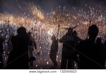 Devils' Dance (Spanish: Baile de Diablos Catalan: Ball de Diables or Correfocs) is tradition originating from Catalonia. Participation in the form of passacaglia (processions) and correfocs (fire runs) is an essential part of celebrations.
