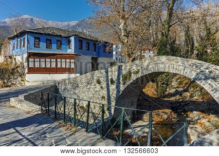 Old house in village of Moushteni near Kavala, East Macedonia and Thrace, Greece