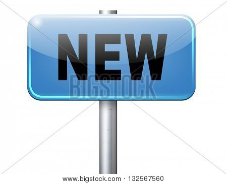New button or icon latest and newest brand of product available now