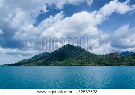 Koh Chang tropical island and sea view. Thailand summer