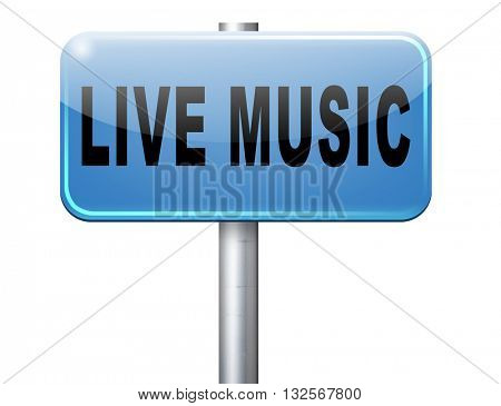 music live stream radio music or listen live on air broadcasting songs program road sign