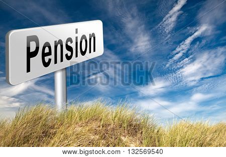 Pension fund and retirement regulation, a plan for insurance and social security. 3D illustration