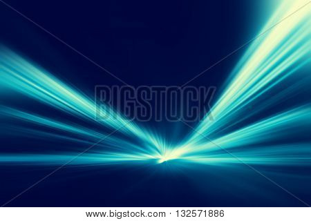 Abstract image of speed motion on the road at twilight.