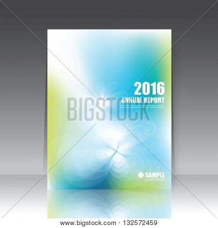 Annual report cover, brochure template, book cover