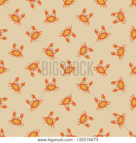 Little crabs, Seamless vector illustration with cute little crabs