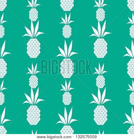 White pineapples, Seamless vector illustration with abstract pineapples