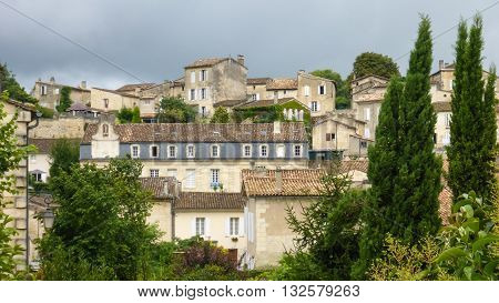 The architecture of France's city of St. Emilion