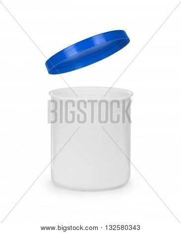 blank plastic bottle with clipping path on white
