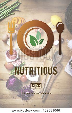 Nutritious Eating Food Health Nourishment Diet Concept