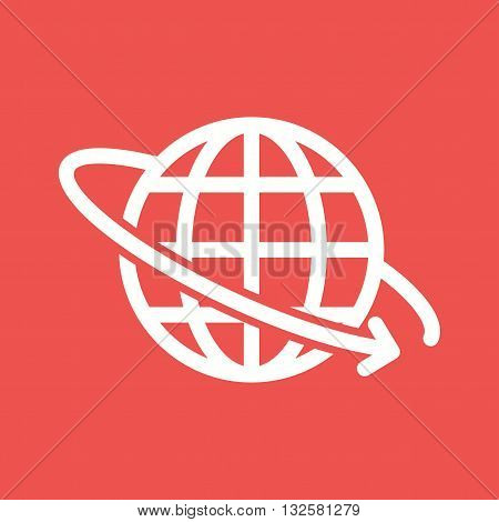 Global, cargo, logistics icon vector image. Can also be used for logistics. Suitable for mobile apps, web apps and print media.