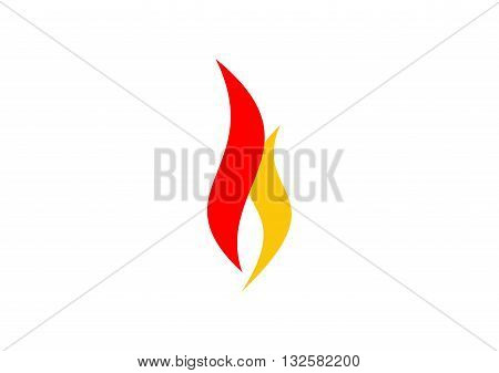 fire flame logo, modern flame simple logotype, hot fire symbol icon vector design.