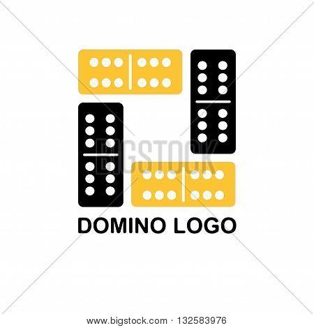 Domino logo. Domino  flat vector illustration on white background. Domino sign design element.