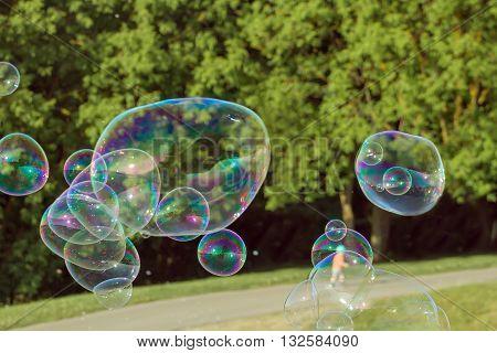 Many Soap Bubbles