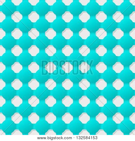 Connected circles of paper with deformed petals cut on the edges and shadows in the cutout. Seamless texture. Seamless pattern. Geometric background.