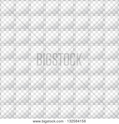 Glass squares on opacity grid background. Seamless texture. Technology seamless pattern. Geometric background.