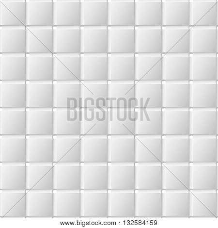 Glass squares on opacity grid background. Seamless texture. Seamless pattern. Geometric background.