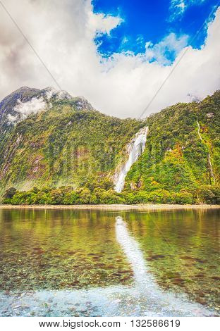 Milford sound. New Zealand fiordland