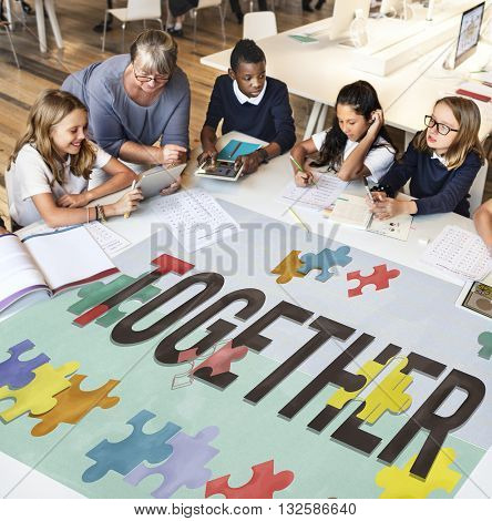 Together Families Friends Society Support Team Concept