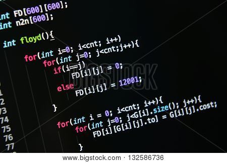 computer language source code: program and software