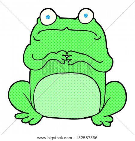 freehand drawn cartoon nervous frog