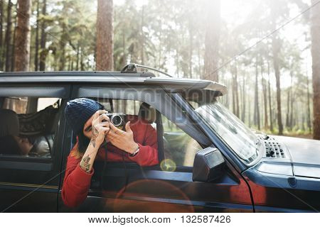 Road trip Adventure Activity Remote Exploration Concept