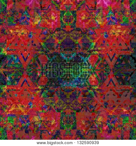 abstract motley vivid spotted red and green background