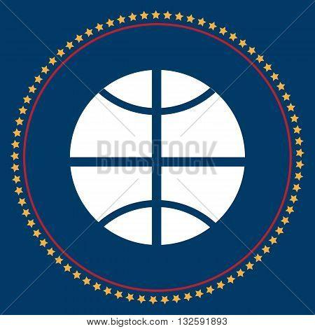 Basketball symbolsticker design vector flat logo. Basketball Icon logo. Basketball Icon Sign