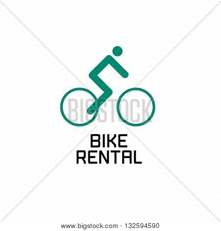 Bicycle vector label and logo design element. Bicycling concept