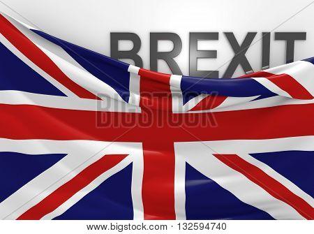 United Kingdom Brexit vote and EU referendum, 3D rendering