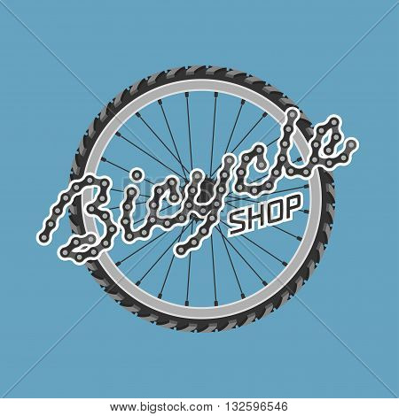 Bicycle shop template vector logo design element. Bicycling concept
