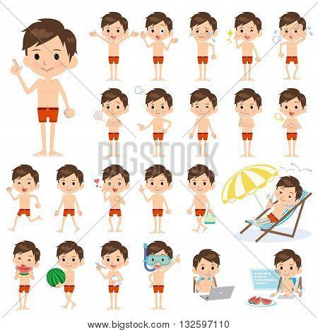 School Boy Sport Swimwear Style