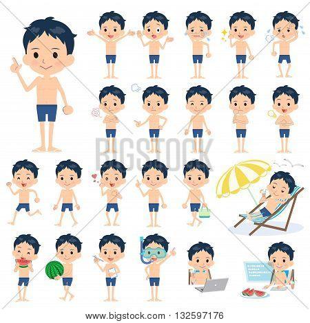 School Boy Regular Swimwear Style