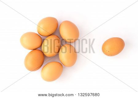 eggs isolated on white background, food, chicken
