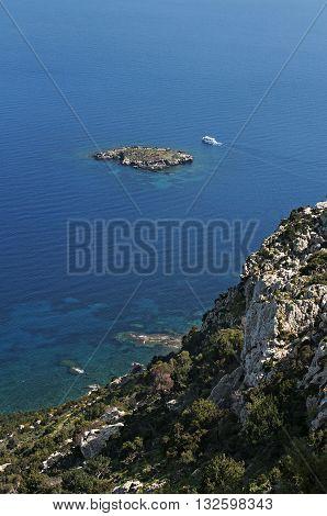 Top View Of Rocks In Cyprus