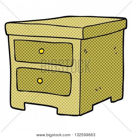 freehand drawn cartoon chest of drawers