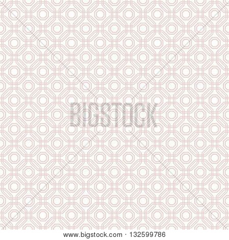 Geometric fine abstract background. Seamless modern pattern with pink octagons