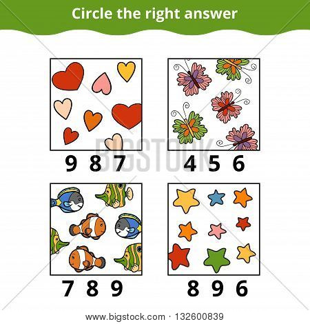Counting Game For Preschool Children