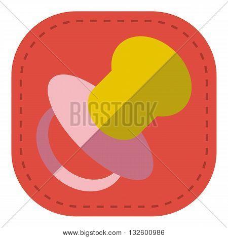 design Baby icon pacifier_Color symbol illustration logo