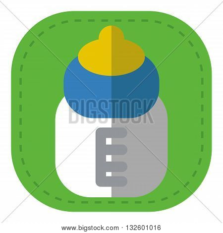 design Baby icon pacifier bottle_Color illustration logo