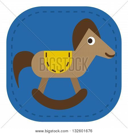 design Baby icon toy horse_Color animal illustration