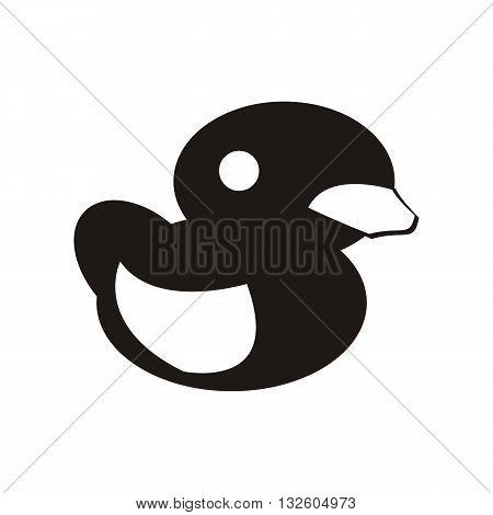 design baby icon toy duck_Black illustration logo vector